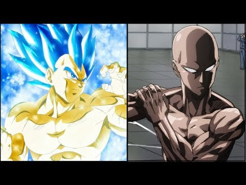 Vegeta vs Saitama Power Levels (Dragon Ball Super vs One Punch Man)