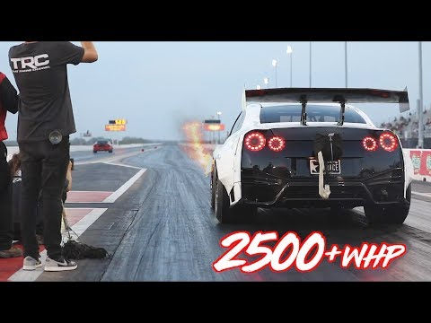 2500HP GTR on RAILS into the 6's!