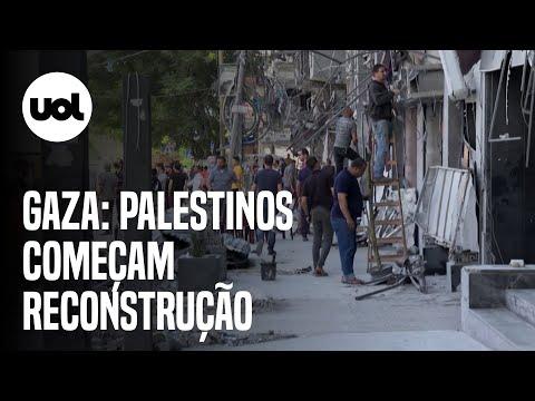 Após ataques de Israel, Gaza organiza ajuda emergencial e começa reconstrução