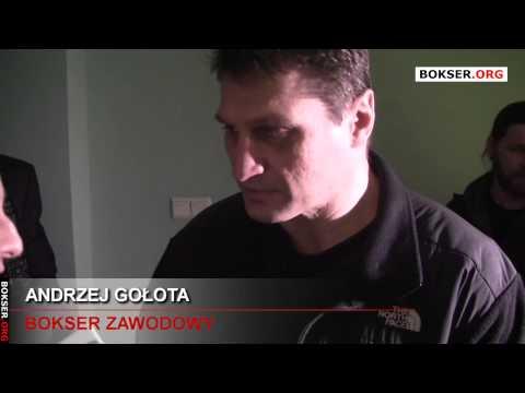 Andrzej Gołota na luzie po treningu medialnym