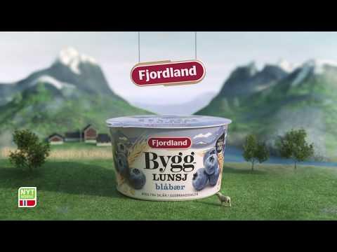 Nytt design! Fjordland Bygglunsj Blåbær