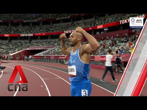 Italy's Lamont Marcell Jacobs wins gold at men's 100m in Tokyo Olympics