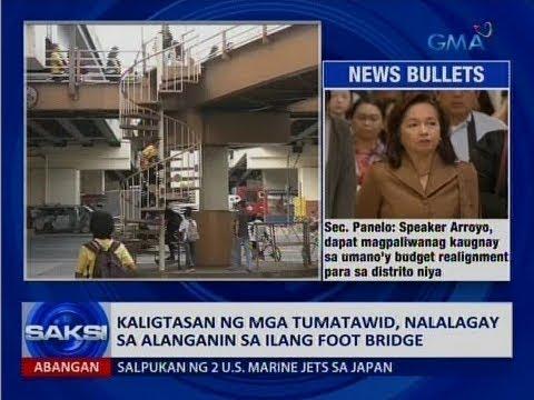 Saksi: Kaligtasan ng mga tumatawid, nalalagay sa alanganin sa ilang foot bridge