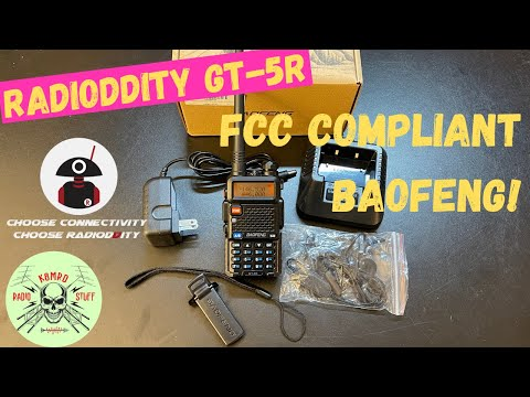 Radioddity GT-5R | Only FCC Compliant Baofeng UV-5R in the world!
