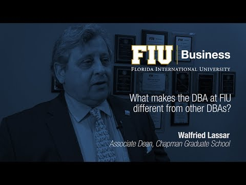 What makes the DBA at FIU different from other DBAs?