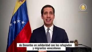 Guaidó presentará testimonios de migrantes en Conferencia Internacional de Donantes