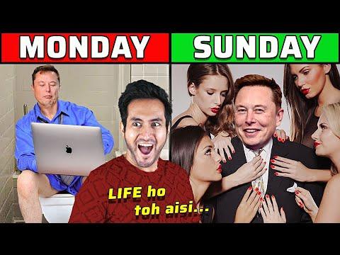 ELON MUSK की जिंदगी का 1 दिन कैसा होता है?   A Day in The Life of Elon Musk