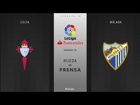 Rueda de prensa Celta vs Málaga