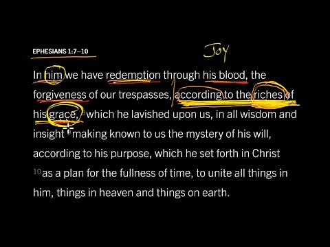 Ephesians 1:7–10 // Part 5 // Grace Flows from Joy in the Trinity