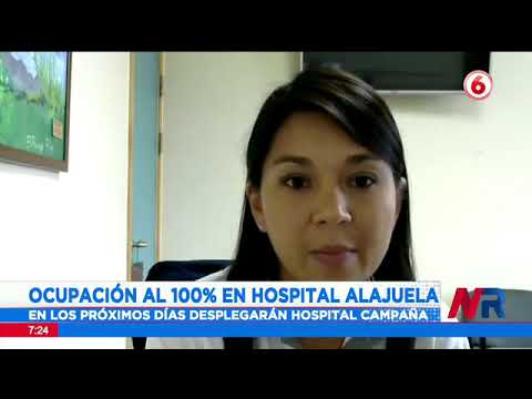Ocupación de camas para pacientes Covid 19 en el Hospital de Alajuela llegó al 100%
