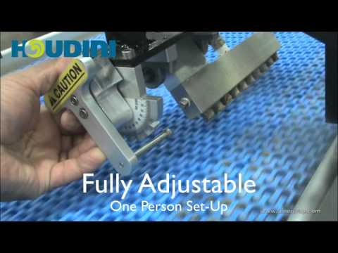 Mesh Conveyor Belt Cleaning and Sanitizing with a Dry Steam Cleaner - Houdini Jet - AmeriVap