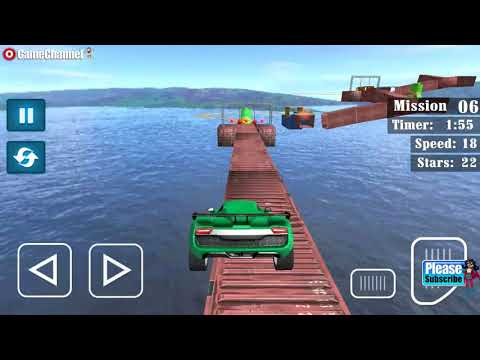 connectYoutube - Impossible Stunt Car Driving Sky Tracks 3D / Racing Sports Car / Android Gameplay Video