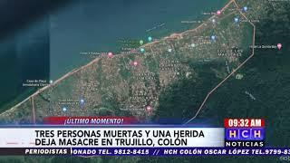 ¡Masacre! Tres miembros de una familia son asesinados en aldea Puerto Rico, Trujillo, Colón