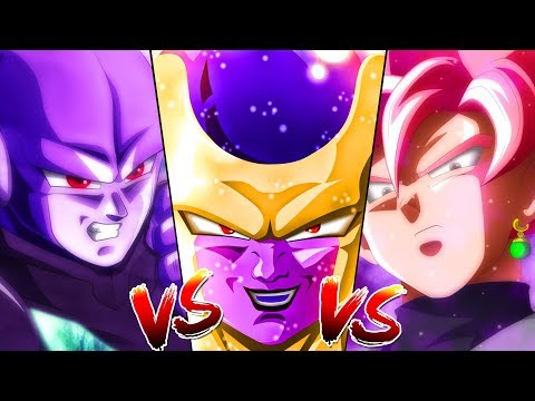 Hit Vs Golden Frieza Vs Goku Black Dragon Ball Super What If Triple Threat Battle
