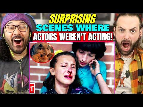 20 Scenes Where ACTORS SURPRISINGLY WEREN T ACTING   REACTION!! (Stranger Things, Spider Man, Joker)