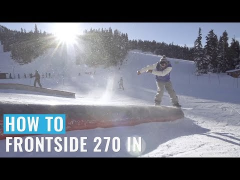 How To 270 In On A Jib Training Snowboard