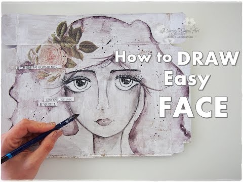Beginners Drawing Face DecoJournal Collage Tutorial ♡ Maremi's Small Art ♡