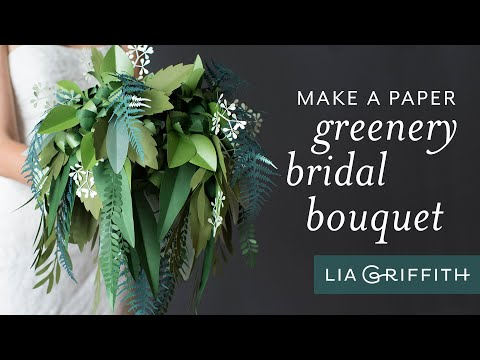 How To Make A Paper Wedding Bouquet Using Greenery