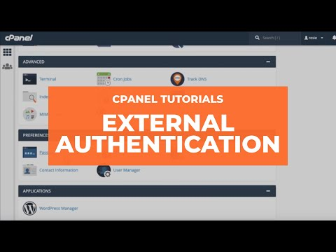 cPanel Tutorials -  External Authentication