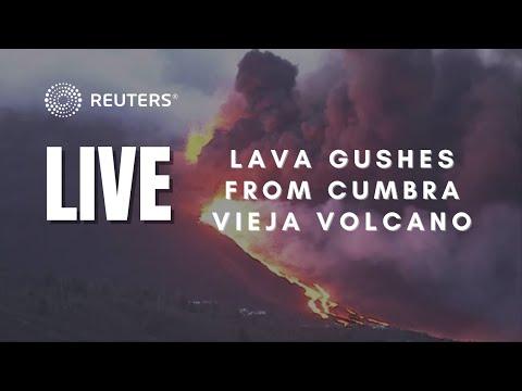 LIVE: Volcano lava reaches the sea on La Palma coast