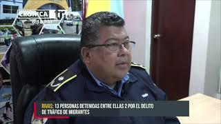 13 delincuentes detenidos durante operativos policiales en Rivas - Nicaragua