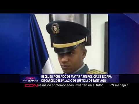 Recluso acusado de matar a un policía se escapa de cárcel del Palacio de Justicia de Santiago