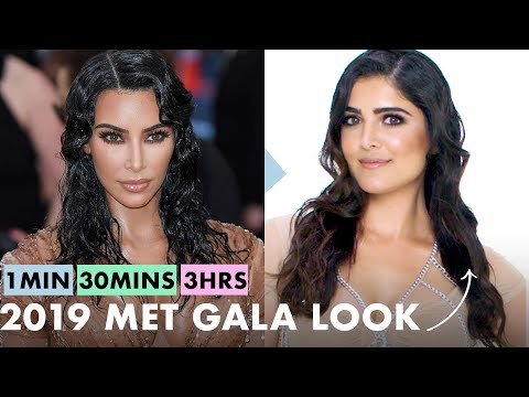 Getting Kim Kardashian West's Look in 1 Minute, 30 Minutes, and 3 Hours - Makeup Challenge   Allure