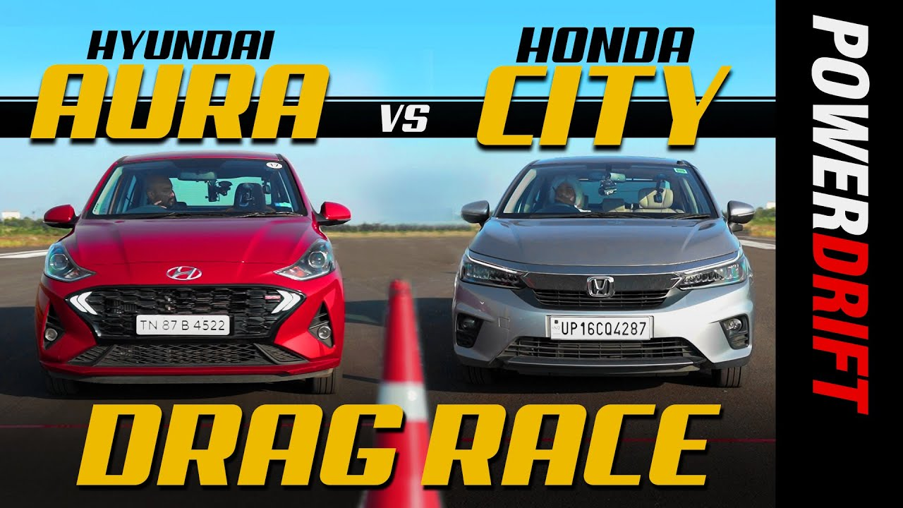 Honda City vs Hyundai Aura | Drag Race | Episode 5 | PowerDrift