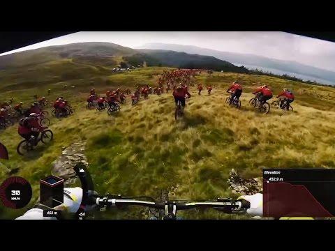 Gee Atherton Hunts Down a Mob of MTB Riders | POV