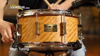 Pork Pie 7x13 Cherry/Walnut Snare Drum, Movingui Quick 'n' Dirty