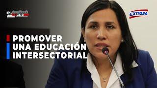 ????????Flor Pablo afirmó que el Partido Morado está interesado en promover una educación intersectorial