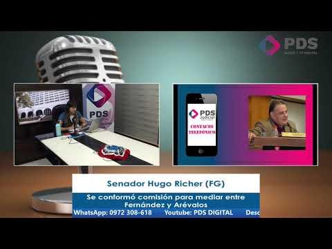 Entrevista - Senador Hugo Richer (FG) - Se conformó comisión para mediar entre Fernández y Arévalos