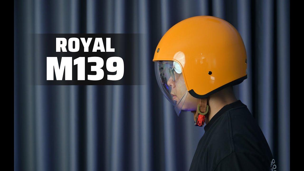 TRÊN TAY nón 3/4 có kính Royal M139 | chất lượng ổn, đa dạng