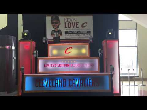 Kevin Love Bobblehead Night display
