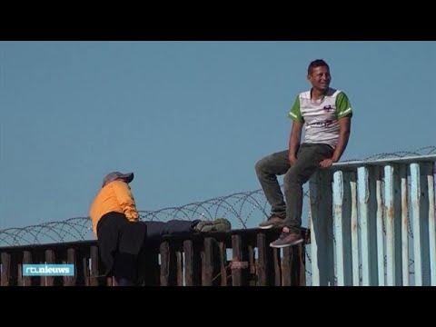 Migranten bereiken Amerika: 'Voor God bestaan grenzen niet' - RTL NIEUWS