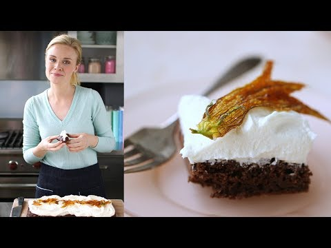 Chocolate Zucchini Sheet Cake with Cream-Cheese Frosting- Sweet Talk with Lindsay Strand