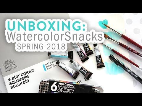 UNBOXING - WatercolorSnacks Spring 2018