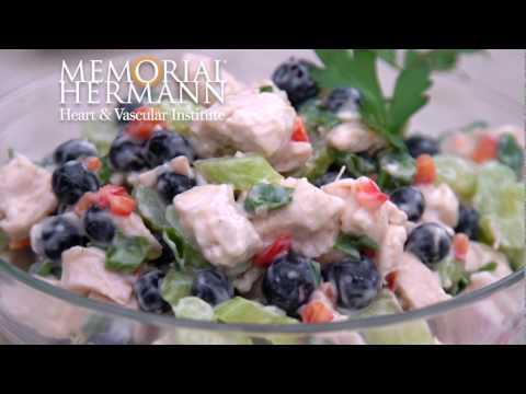 Quick & Healthy Lemon Blueberry Chicken Salad