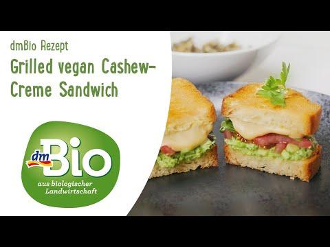 Gegrilltes veganes Cashew-Creme Sandwich | dmBio