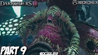 Darksiders 3 Gameplay Walkthrough Part 9 - Gluttony Boss Fight - Xbox One X Lets Play