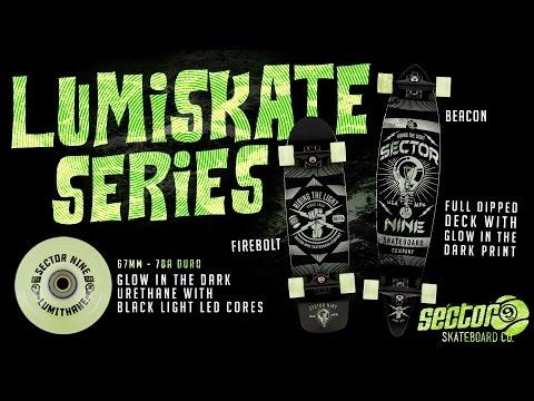 Sector 9 LumiSkate Series: Glow in the Dark Skateboards