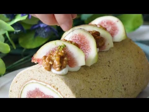 The Best Way to Eat Figs Is Stuffed Inside a Roll Cake   Tastemade Japan