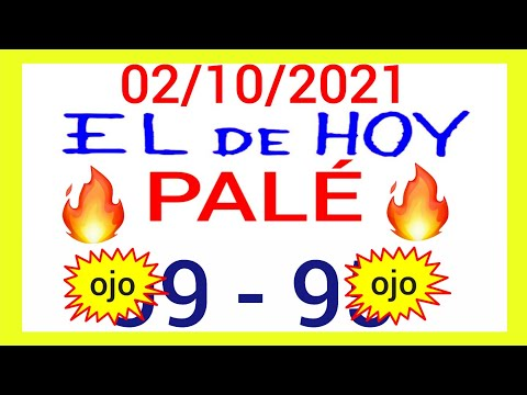 NÚMEROS PARA HOY 02/10/21 DE OCTUBRE PARA TODAS LAS LOTERÍAS...!! Números reales 05 para hoy...!!