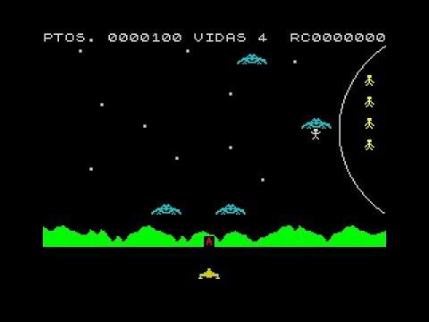 """Clásicos del Spectrum: Galactic Abductors  """"Raptores de la Galaxia""""  (Anirog Software)"""