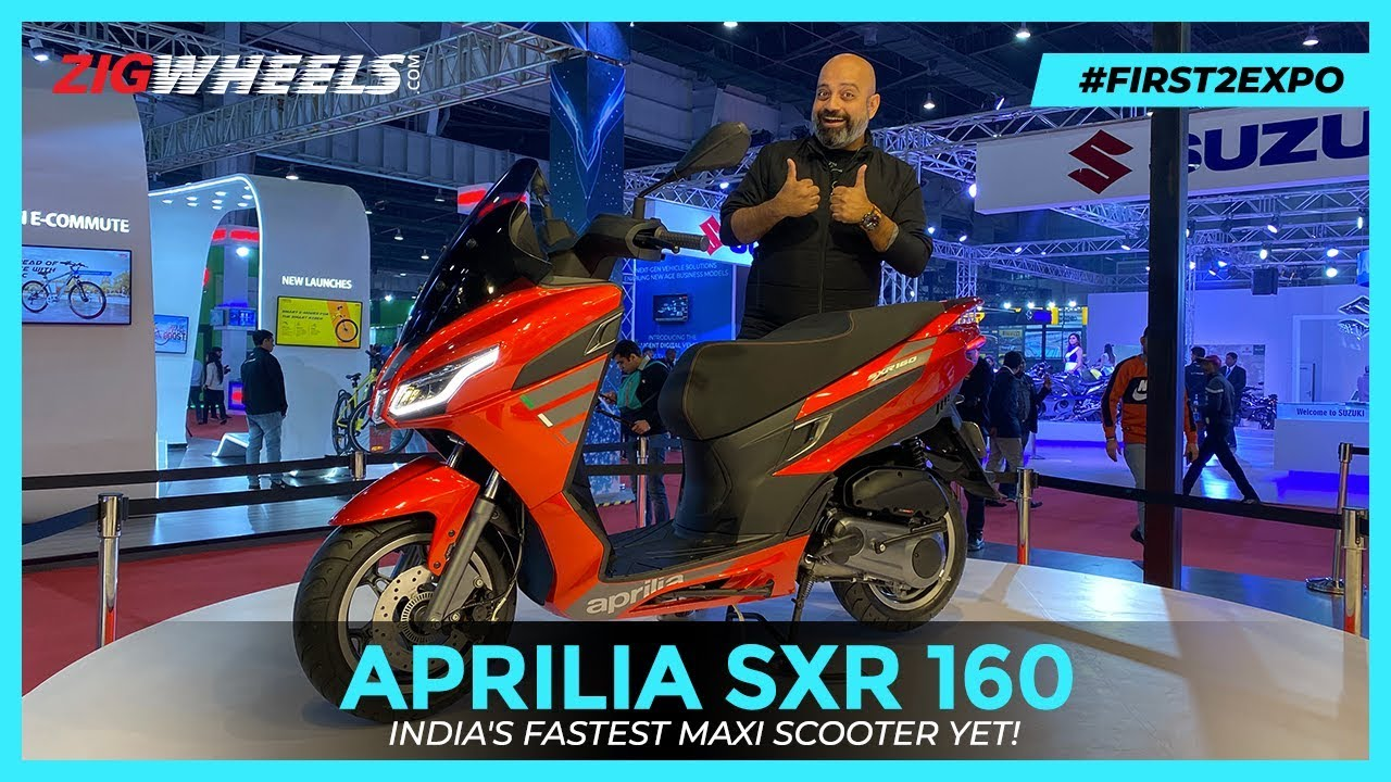 Aprilia SXR160 - Most Powerful Maxi-style Scooter In India I First Look Review | Auto Expo 2020