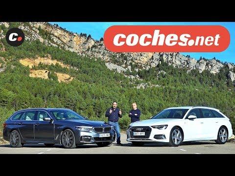 Audi A6 Avant vs BMW Serie 5 Touring 2019 | Comparativa | Prueba / Review en español | coches.net