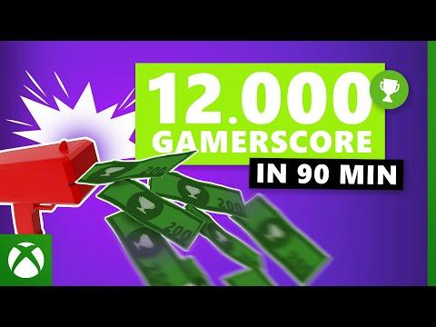So geht's: 12.000 Gamerscore in 90 Minuten!