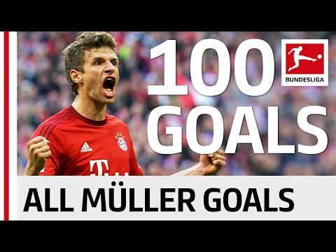 Thomas Müller - All His 100 Goals in The Bundesliga