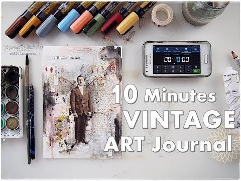 10 Minutes Vintage Art Journal #2 ♡ Maremi's Small Art ♡