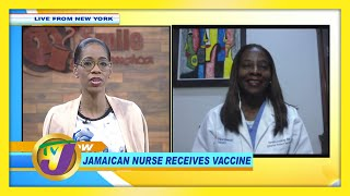 Jamaican Nurse Receives Vaccine: TVJ Smile Jamaica - December 21 2020